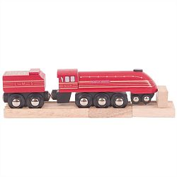 Bigjigs Rail replika lokomotivy Duchess of Hamilton+3 koleje
