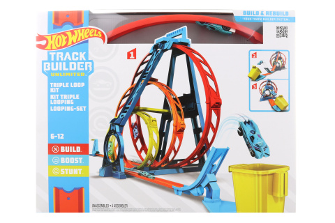 Hot Wheels Track builder trojitá smyčka GLC96